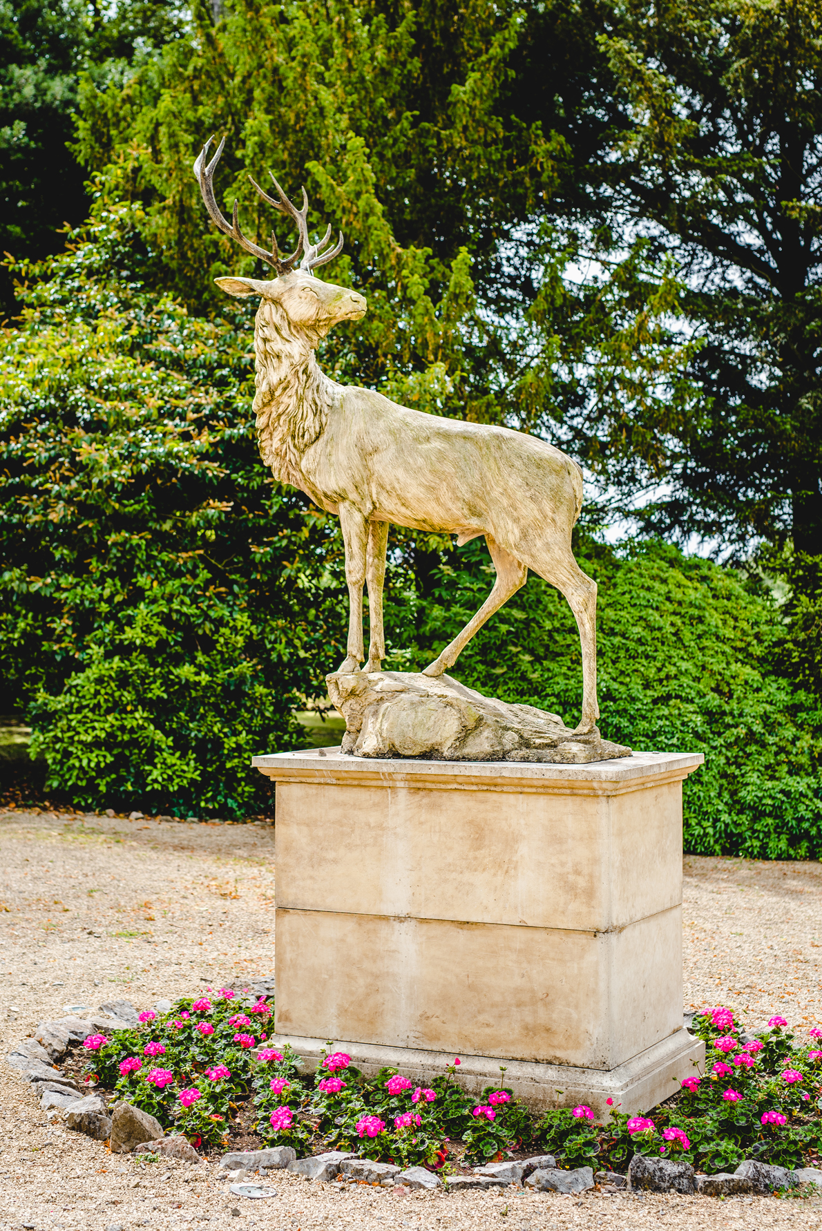 stag statue at old down manor