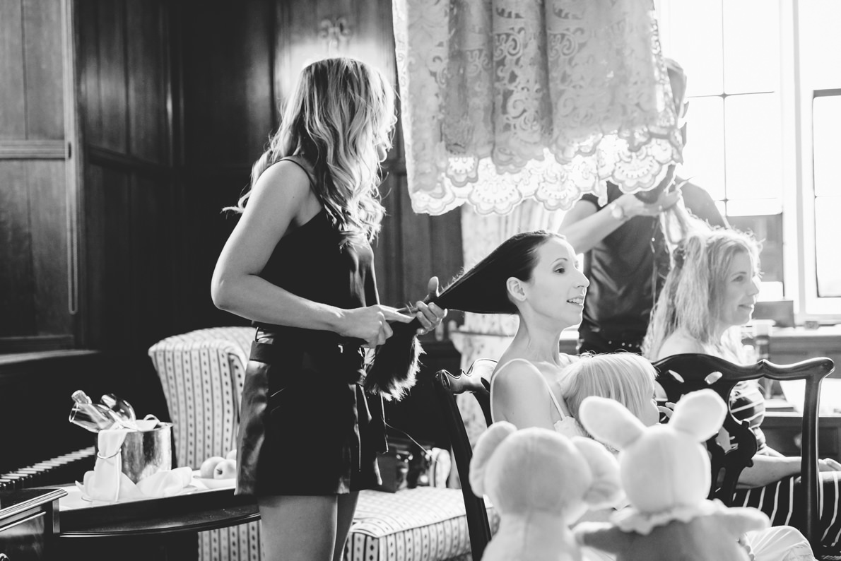 Ellenborough bridal prep with Laura Leigh hair
