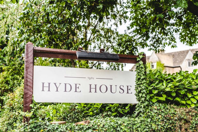 Hyde House entrace sign