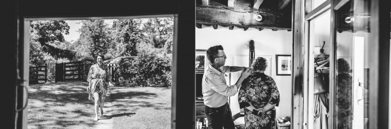 wedding hair and make-up at owlpen manor