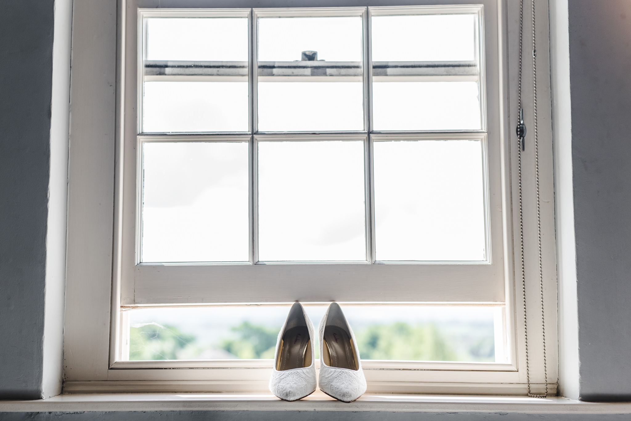 bridal shoes at wick farm