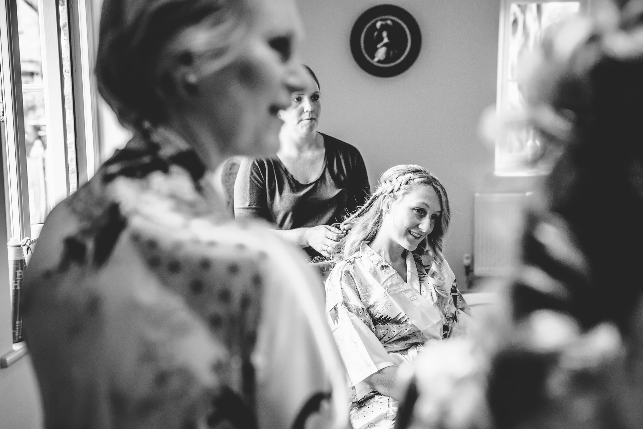 Bridal Hair at Oxleaze Barn wedding venue