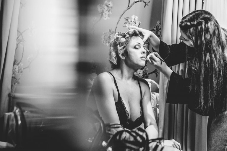 Bridal make-up at Ellenborough Park Hotel