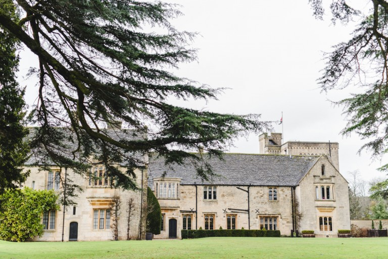 A front view of Ellenborough Park Hotel wedding venue