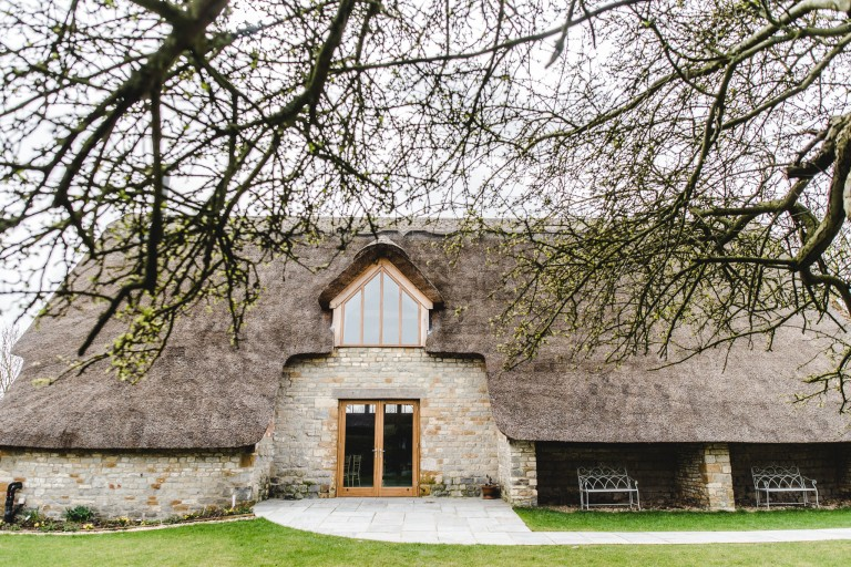 Thatched wedding barn at Blackwell Grange