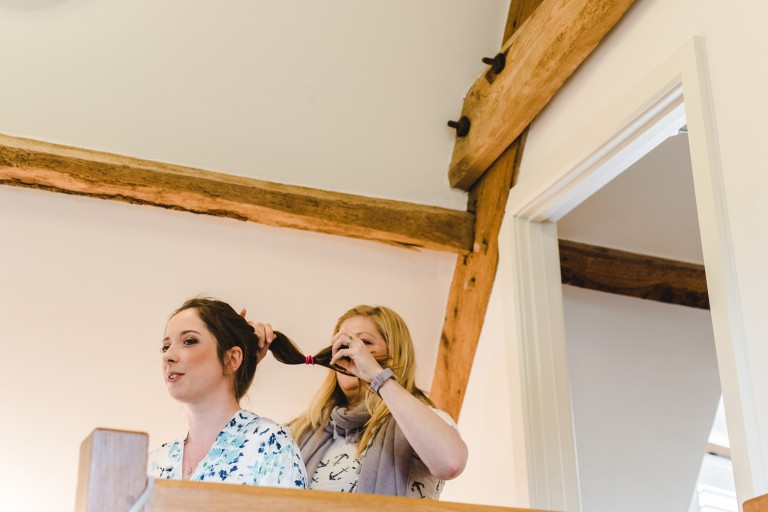 bridal hair at kingscote barn